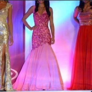 Pink Sherri Hill Mermaid Gown